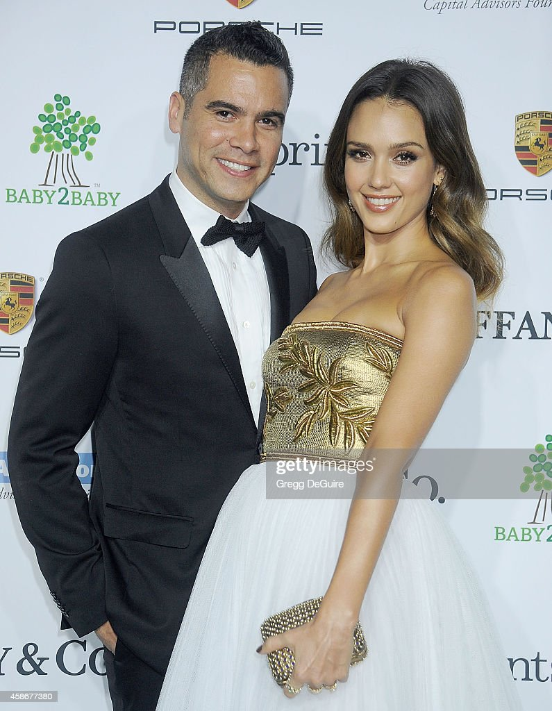 Actress Jessica Alba and Cash Warren arrive at the 2014 Baby2Baby Gala presented by Tiffany Co honoring Kate Hudson at The Book Bindery on November 8...
