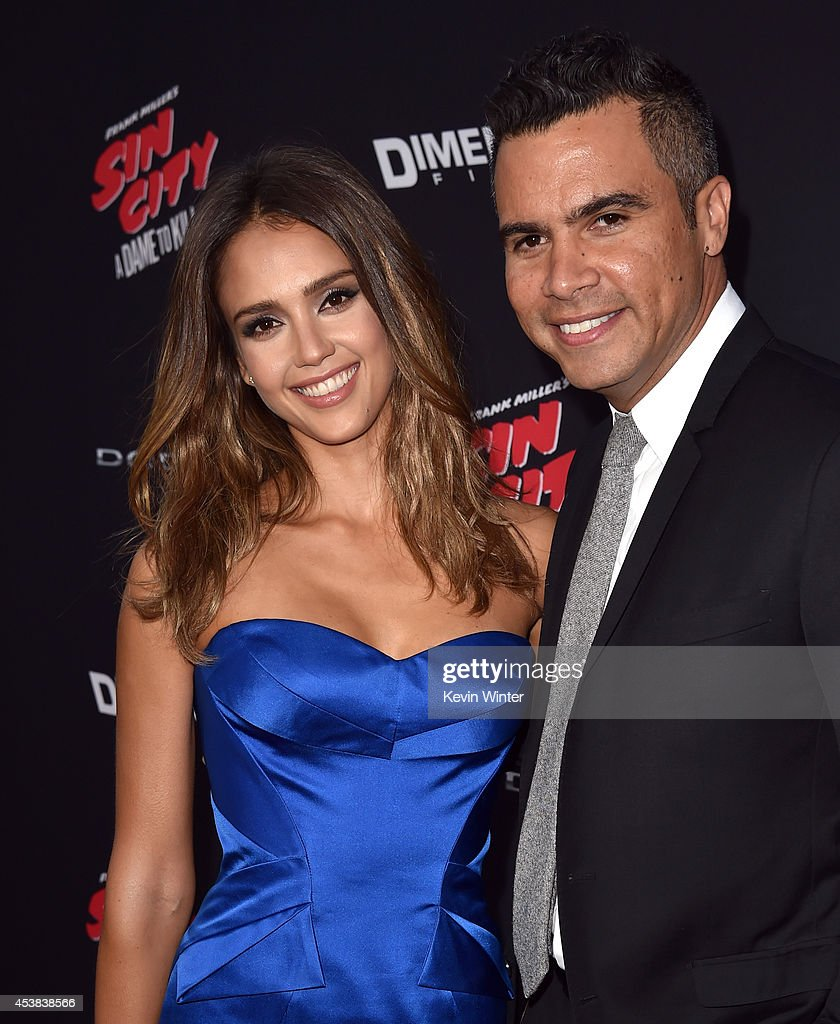 Actress Jessica Alba and Cash Warren attend the premiere of Dimension Films' 'Sin City A Dame To Kill For' at TCL Chinese Theatre on August 19 2014...