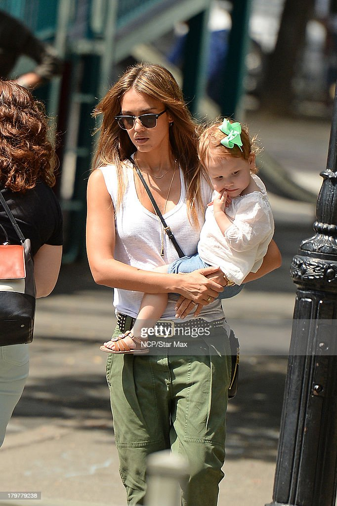 Actress Jessica Alba and Haven Warren is seen on September 6, 2013 in New York City.