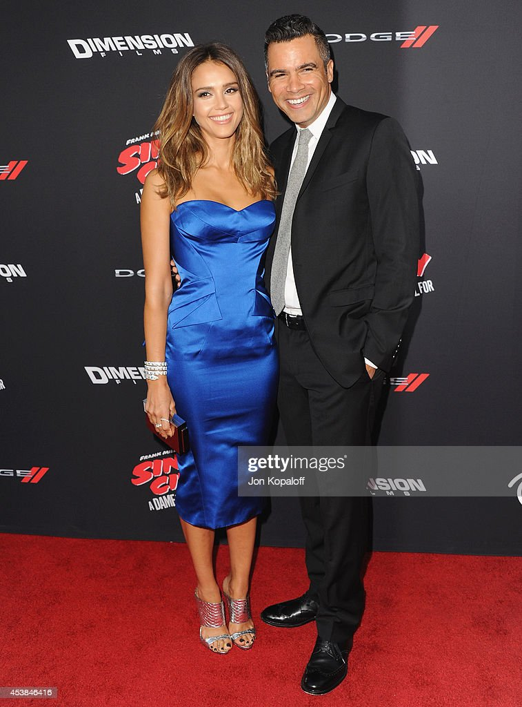 Actress Jessica Alba and husband Cash Warren arrive at the Los Angeles Premiere 'Sin City A Dame To Kill For' at TCL Chinese Theatre on August 19...