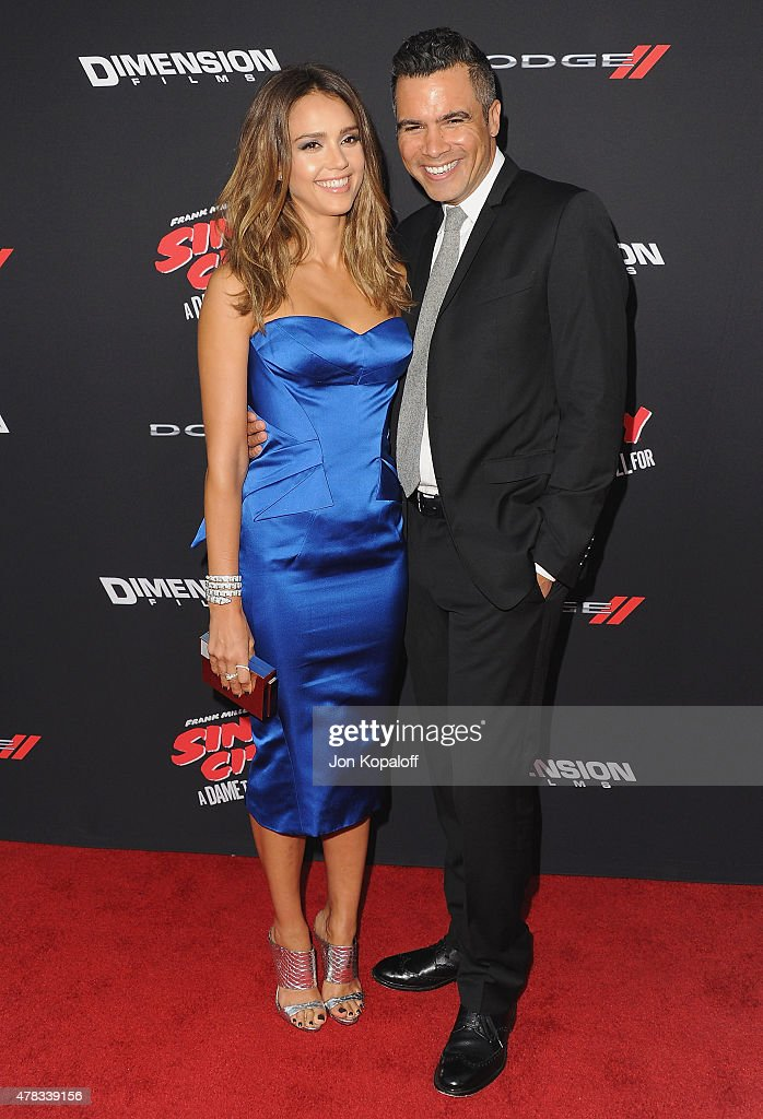 Actress <a gi-track='captionPersonalityLinkClicked' href=/galleries/search?phrase=Jessica+Alba&family=editorial&specificpeople=201811 ng-click='$event.stopPropagation()'>Jessica Alba</a> and husband <a gi-track='captionPersonalityLinkClicked' href=/galleries/search?phrase=Cash+Warren&family=editorial&specificpeople=657410 ng-click='$event.stopPropagation()'>Cash Warren</a> arrive at the Los Angeles Premiere 'Sin City: A Dame To Kill For' at TCL Chinese Theatre on August 19, 2014 in Hollywood, California.