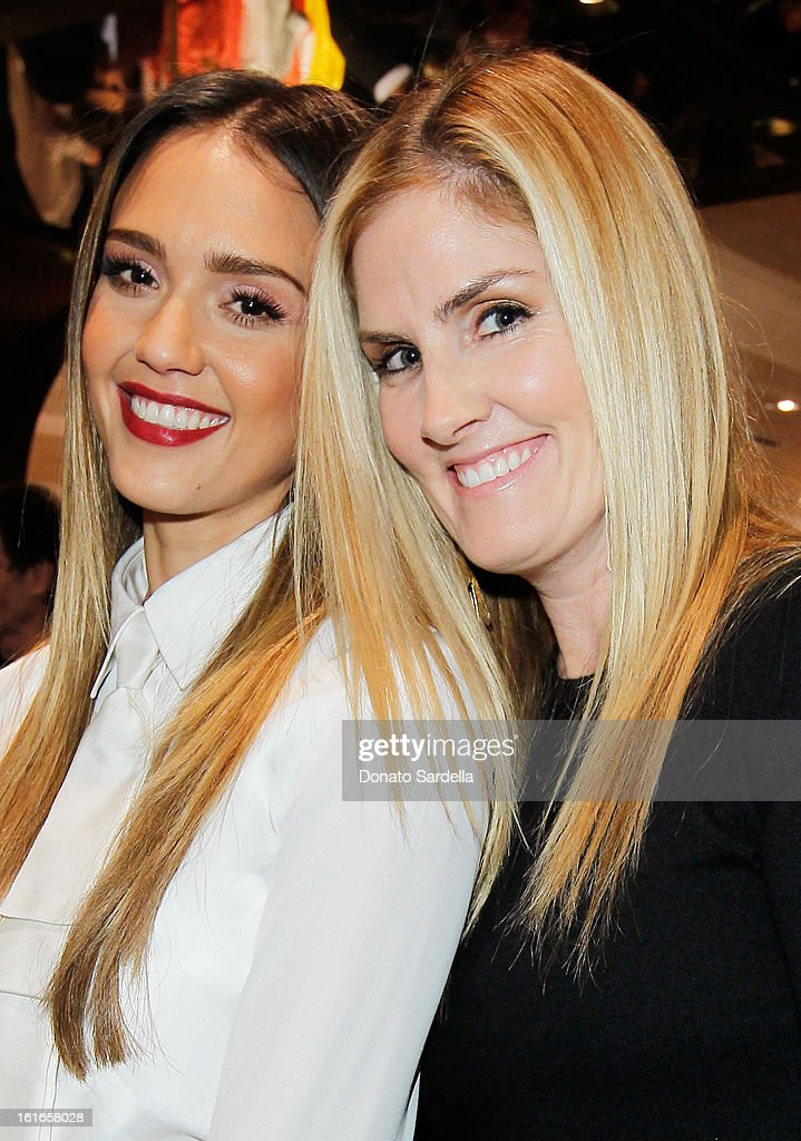 Actress Jessica Alba and Mary Alice Haney attend Tommy Hilfiger New West Coast Flagship Opening on Robertson Boulevard on February 13, 2013 in West Hollywood, California.