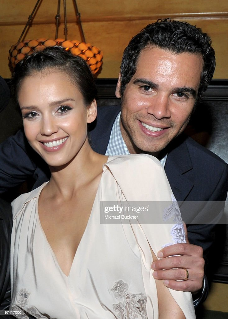 Actress Jessica Alba and producer Cash Warren attend Global Green USA's 7th Annual PreOscar Party at Avalon on March 3 2010 in Hollywood California