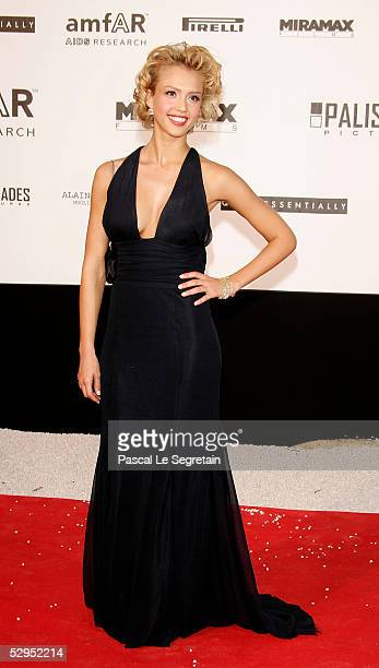Actress Jessica Alba arrives at 'Cinema Against AIDS 2005' the 12th annual event in aid of amfAR at Le Moulin de Mougins at the 58th Cannes Film...
