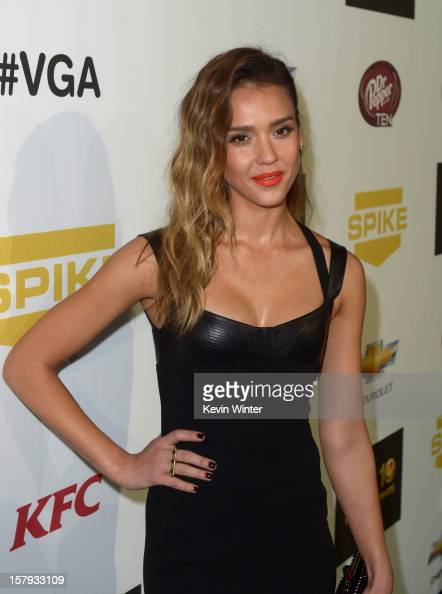Actress Jessica Alba arrives at Spike TV's 10th annual Video Game Awards at Sony Pictures Studios on December 7 2012 in Culver City California