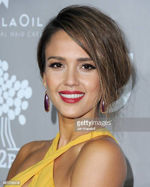 Actress Jessica Alba arrives at the 2015 Baby2Baby Gala at 3LABS on November 14 2015 in Culver City California
