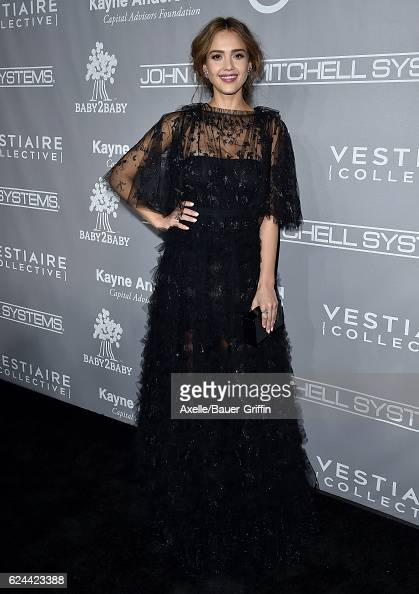 Actress Jessica Alba arrives at the 5th Annual Baby2Baby Gala at 3LABS on November 12 2016 in Culver City California