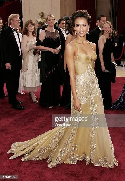 Actress Jessica Alba arrives at the 78th Annual Academy Awards at the Kodak Theatre on March 5 2006 in Hollywood California