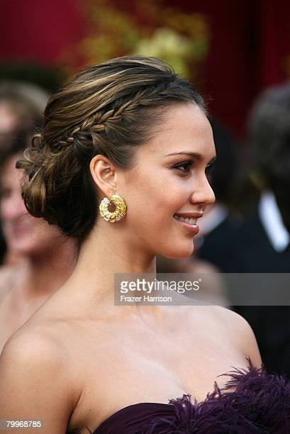 Actress Jessica Alba arrives at the 80th Annual Academy Awards held at the Kodak Theatre on February 24 2008 in Hollywood California