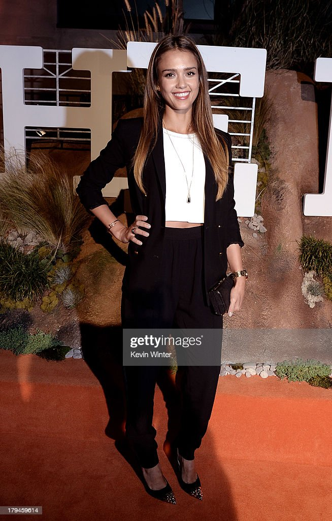 Actress Jessica Alba arrives at the after party for the opening of Hermes Beverly Hills Boutique at 3 Labs on September 3, 2013 in Culver City, California.