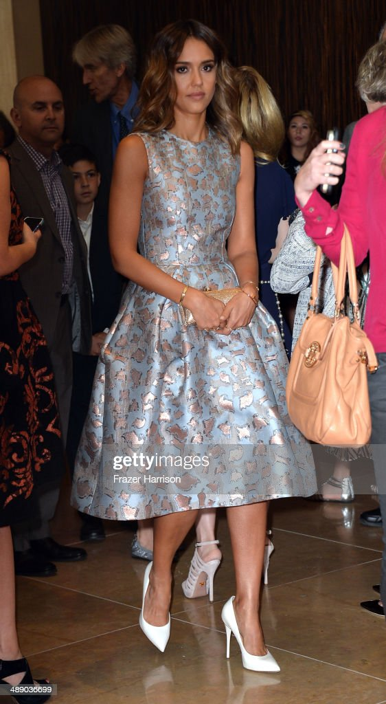 Actress <a gi-track='captionPersonalityLinkClicked' href=/galleries/search?phrase=Jessica+Alba&family=editorial&specificpeople=201811 ng-click='$event.stopPropagation()'>Jessica Alba</a> arrives at The Helping Hand of Los Angeles Mother's Day Luncheon at The Beverly Hilton Hotel on May 9, 2014 in Beverly Hills, California.