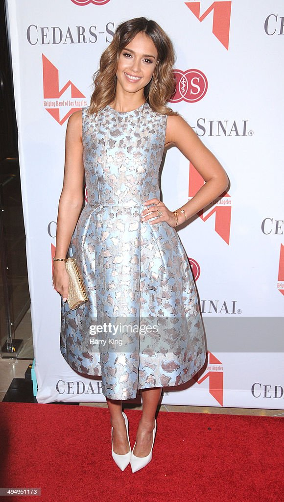 Actress <a gi-track='captionPersonalityLinkClicked' href=/galleries/search?phrase=Jessica+Alba&family=editorial&specificpeople=201811 ng-click='$event.stopPropagation()'>Jessica Alba</a> arrives at The Helping Hand Of Los Angeles Mother's Day Luncheon on May 9, 2014 at The Beverly Hilton Hotel in Beverly Hills, California.