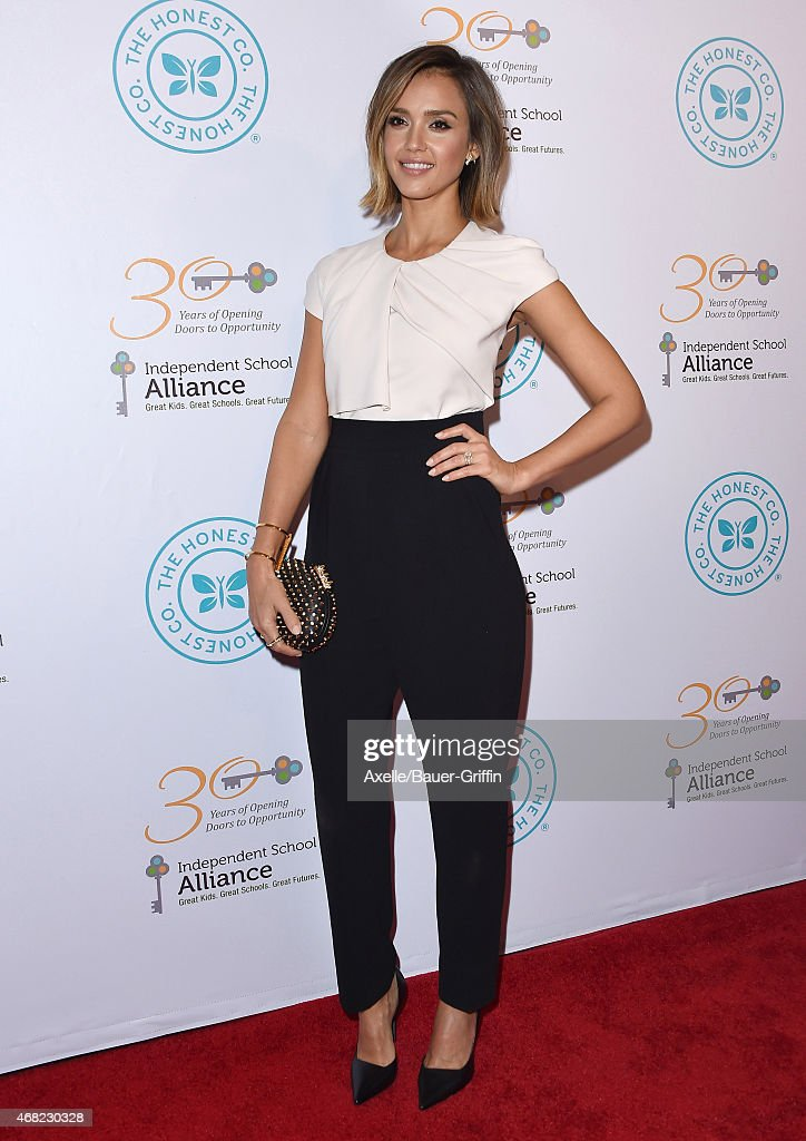 Actress Jessica Alba arrives at The Independent School Alliance For Minority Affairs Impact Awards Dinner at Four Seasons Hotel Los Angeles at...