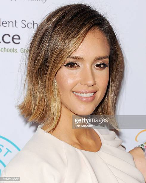 Actress Jessica Alba arrives at The Independent School Alliance For Minority Affairs Impact Awards Dinner at Four Seasons Beverly Wilshire Hotel Los...