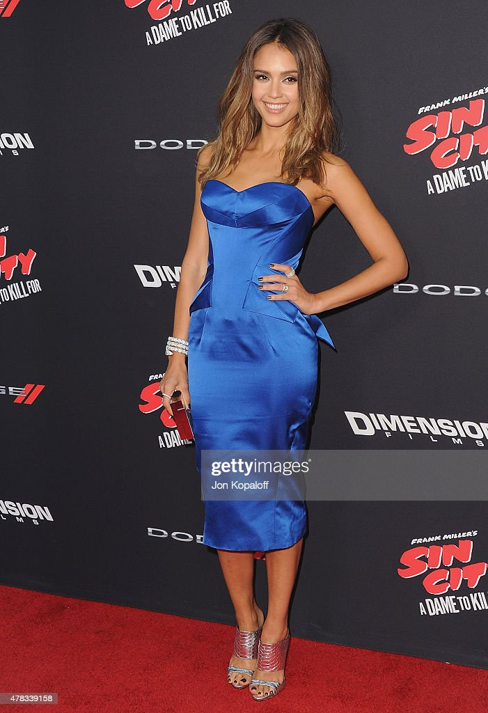 Actress <a gi-track='captionPersonalityLinkClicked' href=/galleries/search?phrase=Jessica+Alba&family=editorial&specificpeople=201811 ng-click='$event.stopPropagation()'>Jessica Alba</a> arrives at the Los Angeles Premiere 'Sin City: A Dame To Kill For' at TCL Chinese Theatre on August 19, 2014 in Hollywood, California.