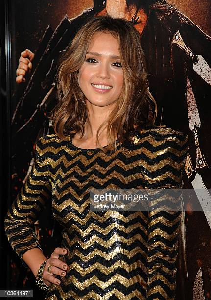 Actress Jessica Alba arrives at the 'Machete' Los Angeles Premiere at The Orpheum Theatre on August 25 2010 in Los Angeles California