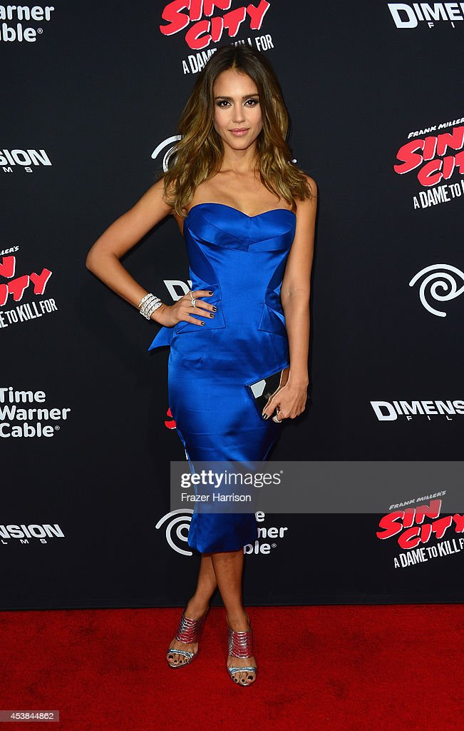 Actress <a gi-track='captionPersonalityLinkClicked' href=/galleries/search?phrase=Jessica+Alba&family=editorial&specificpeople=201811 ng-click='$event.stopPropagation()'>Jessica Alba</a> arrives at the Premiere of Dimension Films' 'Sin City: A Dame To Kill For' at TCL Chinese Theatre on August 19, 2014 in Hollywood, California.