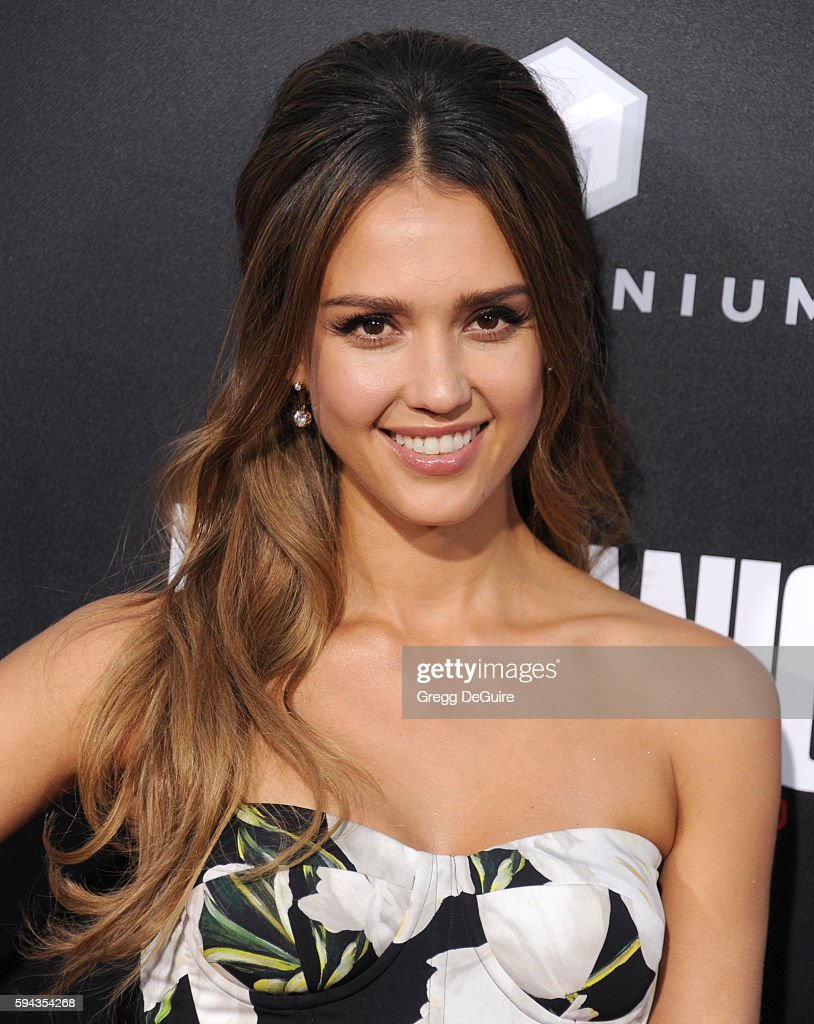 Actress Jessica Alba arrives at the premiere of Summit Entertainment's 'Mechanic Resurrection' at ArcLight Hollywood on August 22 2016 in Hollywood...