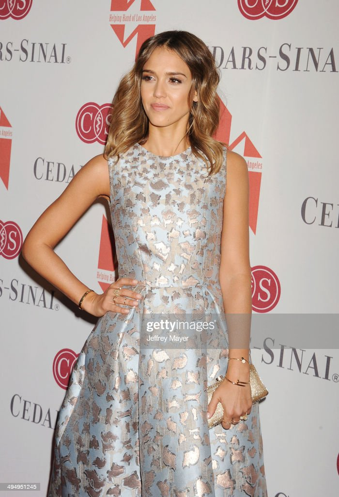 Actress Jessica Alba arrives at the The Helping Hand Of Los Angeles Mother's Day Luncheon at The Beverly Hilton Hotel on May 9, 2014 in Beverly Hills, California.