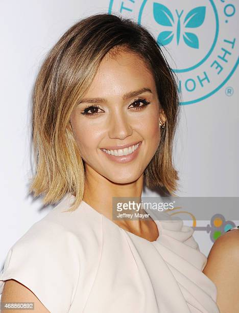Actress Jessica Alba arrives at the The Independent School Alliance For Minority Affairs Impact Awards Dinner at Four Seasons Hotel Los Angeles at...