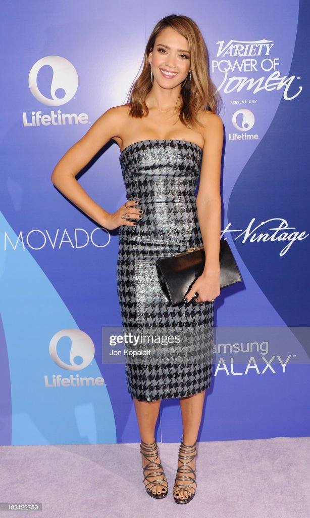 Actress Jessica Alba arrives at Variety's 5th Annual Power Of Women Event at the Beverly Wilshire Four Seasons Hotel on October 4, 2013 in Beverly Hills, California.