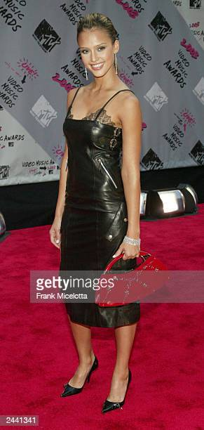 Actress Jessica Alba arrives to the 2003 MTV Video Music Awards at Radio City Music Hall on August 28 2003 in New York City