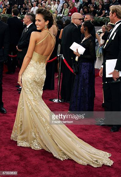 Actress Jessica Alba arrives to the 78th Annual Academy Awards at the Kodak Theatre on March 5 2006 in Hollywood California