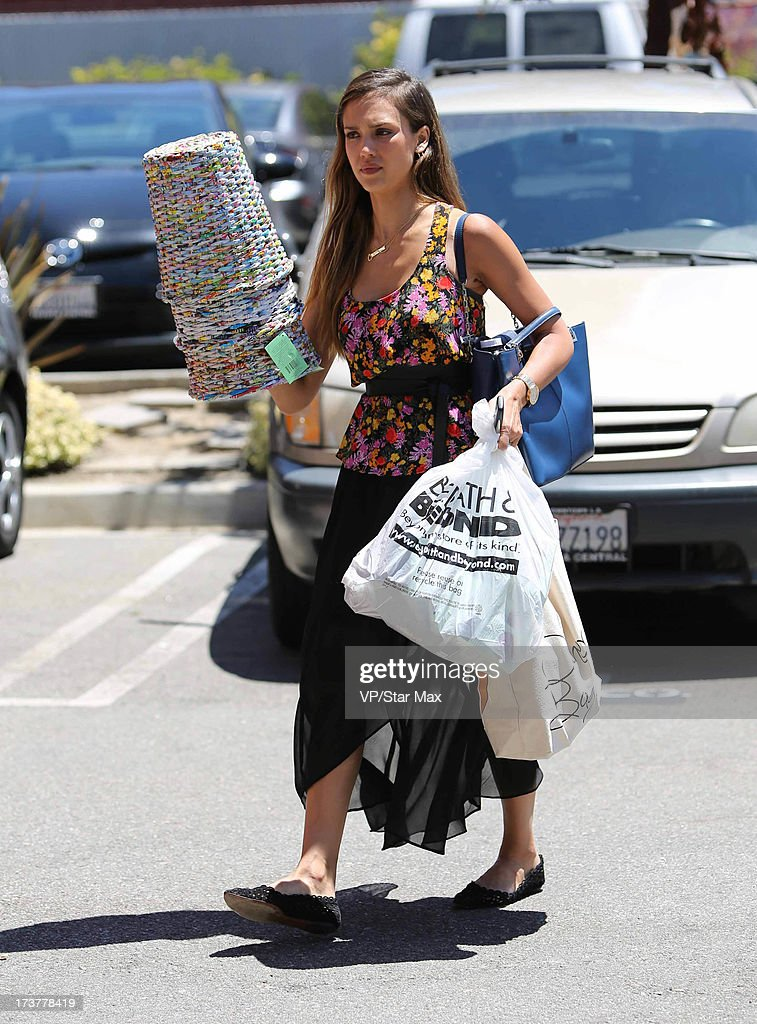 Actress Jessica Alba as seen on July 17, 2013 in Los Angeles, California.