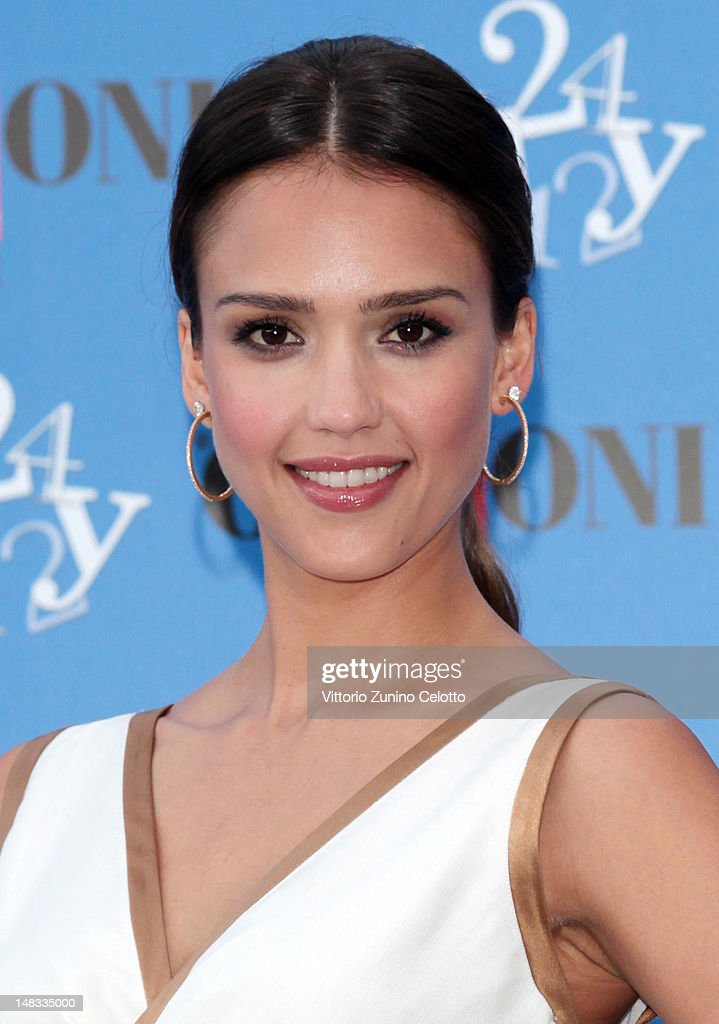 Actress <a gi-track='captionPersonalityLinkClicked' href=/galleries/search?phrase=Jessica+Alba&family=editorial&specificpeople=201811 ng-click='$event.stopPropagation()'>Jessica Alba</a> attends 2012 Giffoni Film Festival photocall on July 14, 2012 in Giffoni Valle Piana, Italy.