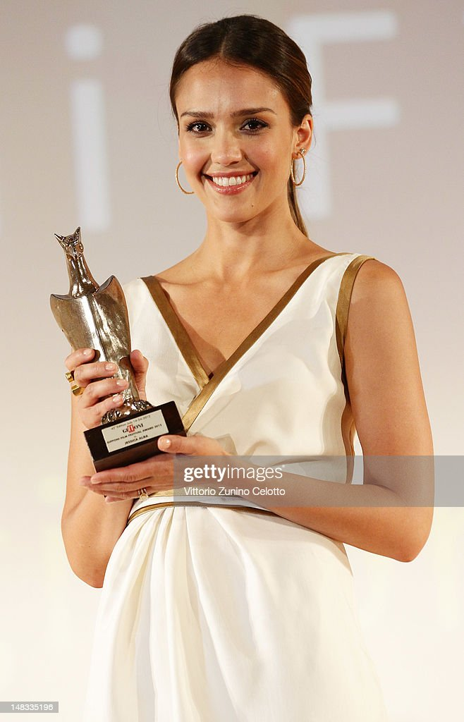 Actress <a gi-track='captionPersonalityLinkClicked' href=/galleries/search?phrase=Jessica+Alba&family=editorial&specificpeople=201811 ng-click='$event.stopPropagation()'>Jessica Alba</a> attends 2012 Giffoni Film Festival press conference on July 14, 2012 in Giffoni Valle Piana, Italy.