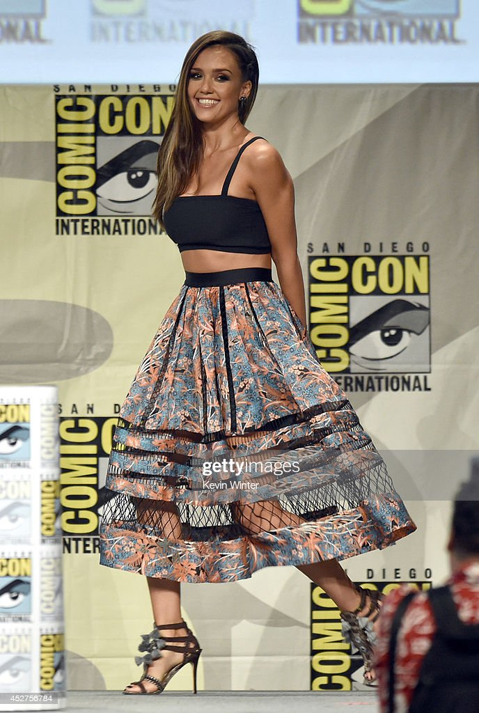 Actress Jessica Alba attends 'Frank Miller's Sin City: A Dame To Kill For' panel during Comic-Con International 2014 at San Diego Convention Center on July 26, 2014 in San Diego, California.