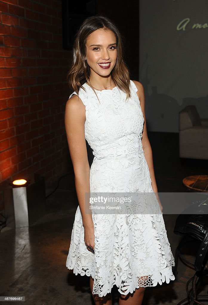 Actress Jessica Alba attends Hollywood Stands Up To Cancer Event with contributors American Cancer Society and Bristol Myers Squibb hosted by Jim...