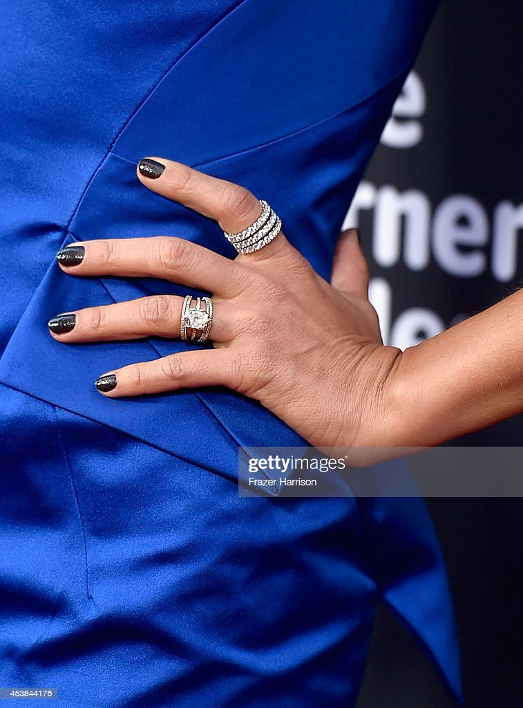 Actress Jessica Alba (jewelry detail) attends Premiere of Dimension Films' 'Sin City: A Dame To Kill For' at TCL Chinese Theatre on August 19, 2014 in Hollywood, California.