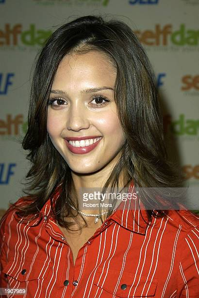 Actress Jessica Alba attends Self Magazine's 'Self Day' kickoff party at the Peninsula Hotel April 8 2003 in Beverly Hills California