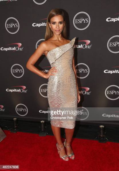 Actress Jessica Alba attends The 2014 ESPYS at Nokia Theatre LA Live on July 16 2014 in Los Angeles California
