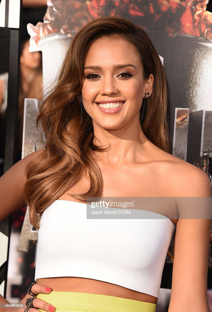 Actress Jessica Alba attends the 2014 MTV Movie Awards at Nokia Theatre L.A. Live on April 13, 2014 in Los Angeles, California.