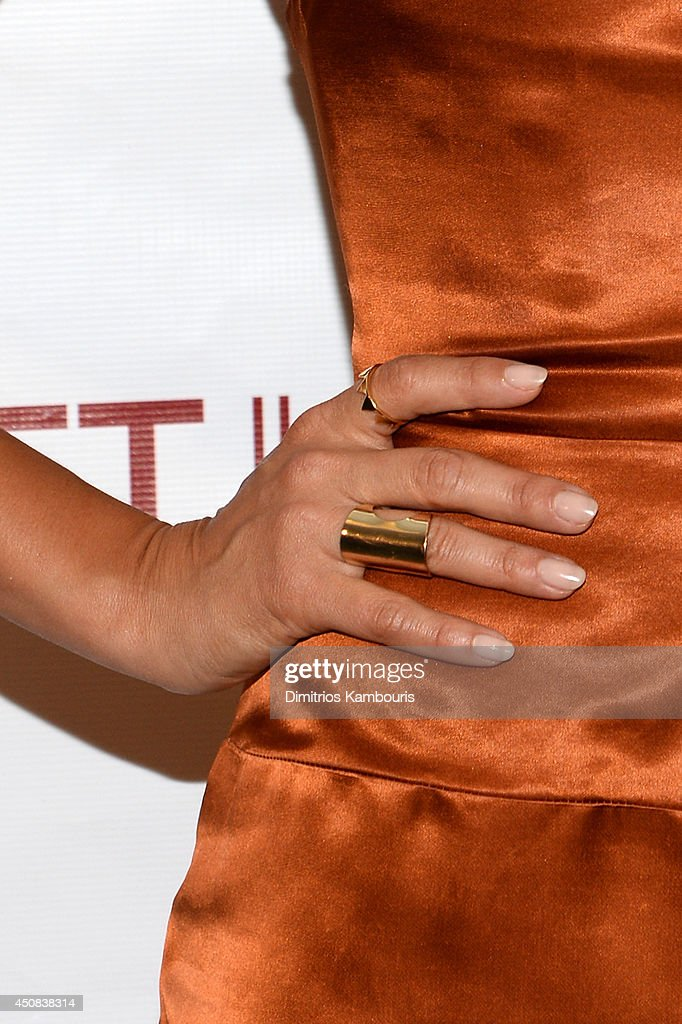 Actress Jessica Alba (fashion detail) attends the 2014 New York Women In Film And Television 'Designing Women' Awards Gala at McGraw Hill Building on June 18, 2014 in New York City.
