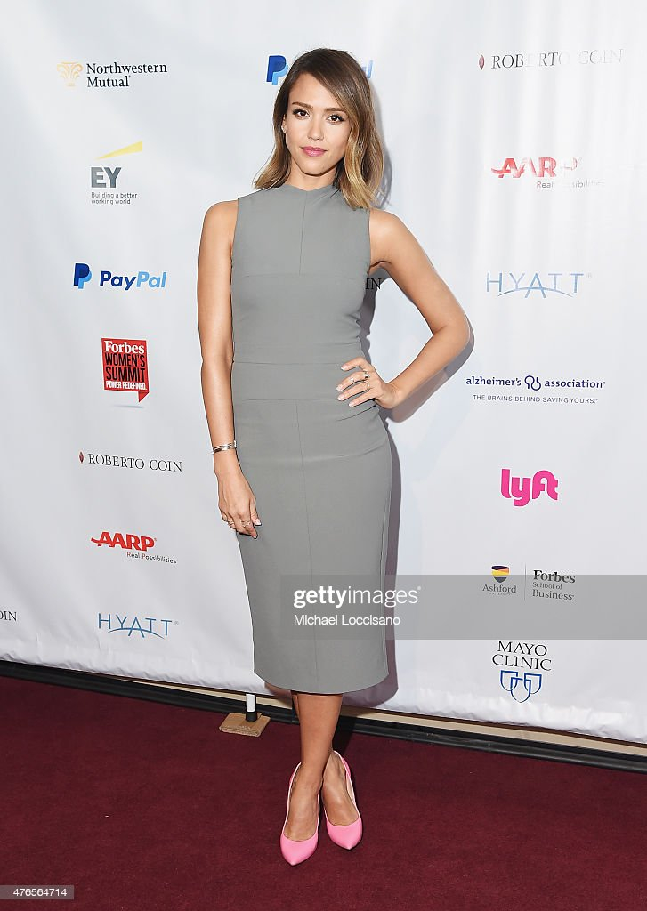 Actress Jessica Alba attends the 2015 Forbes Women's Summit: Transforming The Rules Of Engagement at Pier 60 on June 10, 2015 in New York City.