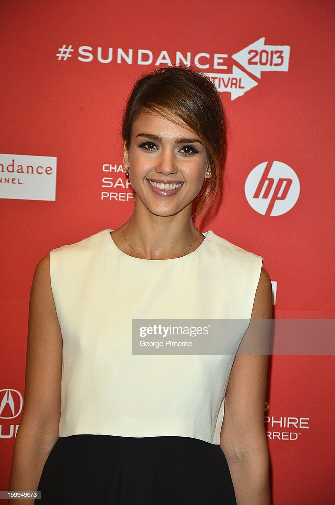 Actress <a gi-track='captionPersonalityLinkClicked' href=/galleries/search?phrase=Jessica+Alba&family=editorial&specificpeople=201811 ng-click='$event.stopPropagation()'>Jessica Alba</a> attends the 'A.C.O.D' Premiere during the 2013 Sundance Film Festival at Eccles Center Theatre on January 23, 2013 in Park City, Utah.