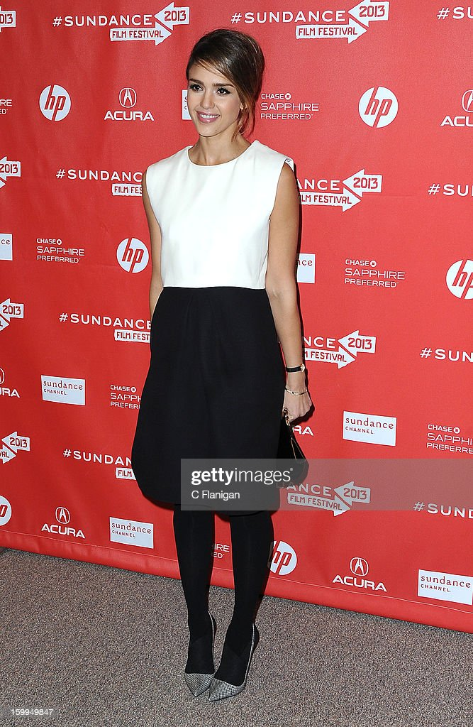 Actress Jessica Alba attends the 'A.C.O.D.' Premiere during the 2013 Sundance Film Festival at Eccles Center Theatre on January 23, 2013 in Park City, Utah.