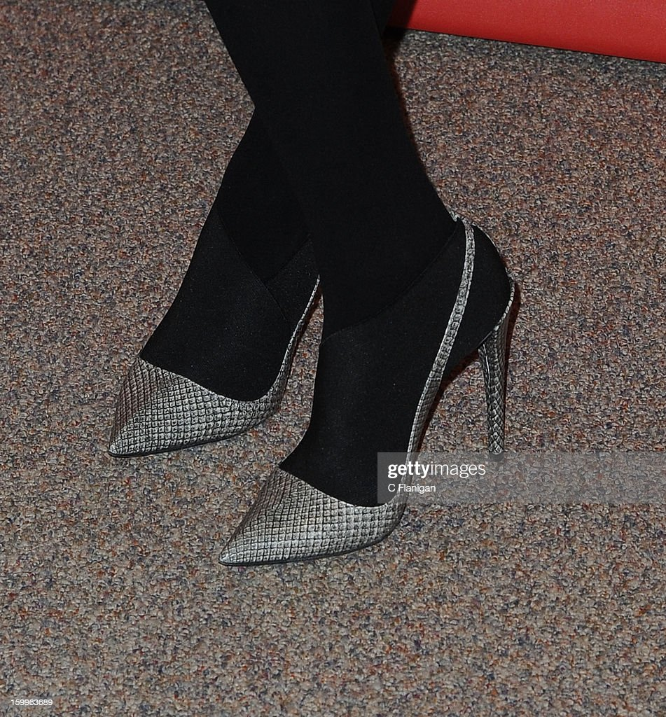 Actress Jessica Alba (Shoe Detail) attends the 'A.C.O.D.' Premiere during the 2013 Sundance Film Festival at Eccles Center Theatre on January 23, 2013 in Park City, Utah.
