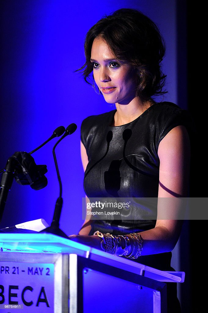 Actress <a gi-track='captionPersonalityLinkClicked' href=/galleries/search?phrase=Jessica+Alba&family=editorial&specificpeople=201811 ng-click='$event.stopPropagation()'>Jessica Alba</a> attends the Awards Night Show & Party during the 2010 Tribeca Film Festival at the W New York - Union Square on April 29, 2010 in New York City.