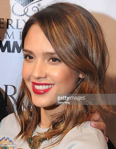 Actress Jessica Alba attends the Beverly Hills Camber of Commerce hosting EXPERIENCE East Meets West event on February 5 2014 at Crustacean in...