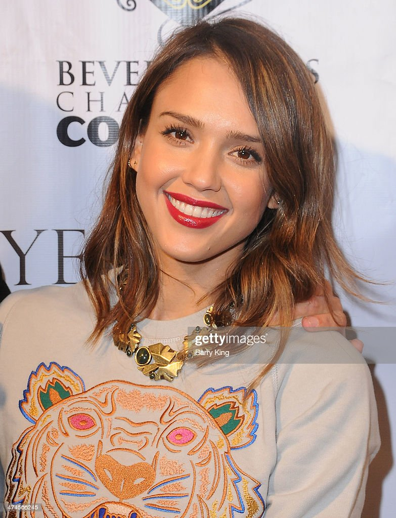 Actress <a gi-track='captionPersonalityLinkClicked' href=/galleries/search?phrase=Jessica+Alba&family=editorial&specificpeople=201811 ng-click='$event.stopPropagation()'>Jessica Alba</a> attends the Beverly Hills Camber of Commerce hosting