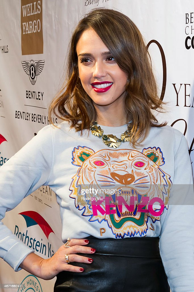 Actress Jessica Alba attends the Beverly Hills Chamber of Commerce hosting