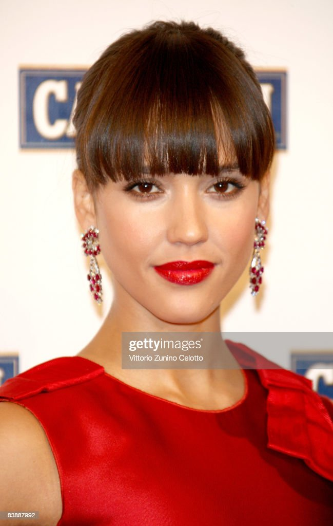 Actress <a gi-track='captionPersonalityLinkClicked' href=/galleries/search?phrase=Jessica+Alba&family=editorial&specificpeople=201811 ng-click='$event.stopPropagation()'>Jessica Alba</a> attends the Campari Club, 2009 Campari Calendar launch at La Permanente on December 2, 2008 in Milano, Italy.