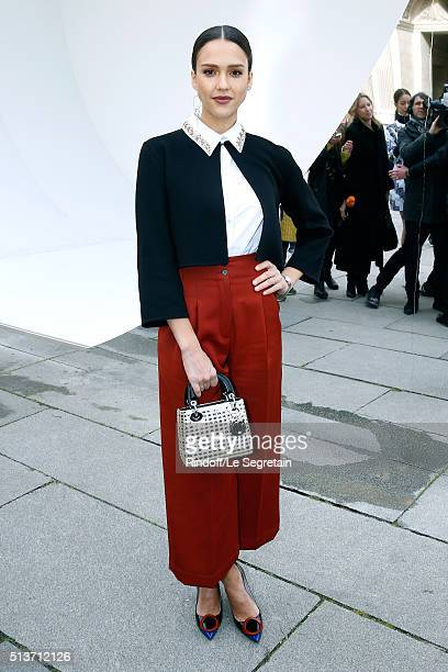 Actress Jessica Alba attends the Christian Dior show as part of the Paris Fashion Week Womenswear Fall/Winter 2016/2017 on March 4 2016 in Paris...