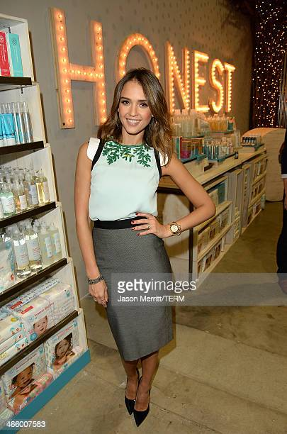Actress Jessica Alba attends the Honest Company turns 2nd Birthday celebration on January 30 2014 in Santa Monica California