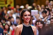Actress Jessica Alba attends the Mission Hills World Celebrity ProAm opening ceremony at Mission Hills Huayi Brothers Feng Xiaogang Movie Town on...