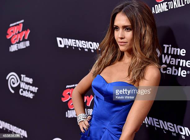 Actress Jessica Alba attends the premiere of Dimension Films' 'Sin City A Dame To Kill For' at TCL Chinese Theatre on August 19 2014 in Hollywood...